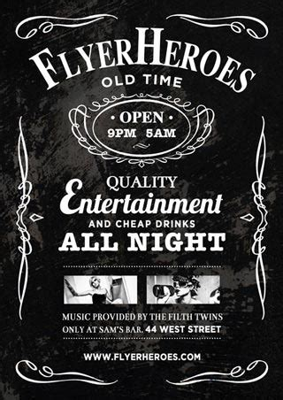 Bar Flyer Templates Free free whiskey bar flyer template freebie psd for