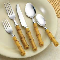 bamboo flatware bellamo bamboo style 26 piece flatware set contemporary