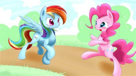 Bgc My Pinkie Pony Rainbow Dash And Friends Kantung Depan Tas R my pony rainbow dash and pinkie pie