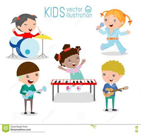 Clipart Bambini Giocano Bambini E Musica Bambini Giocano Gli Strumenti