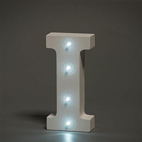 white lights cheap cheap white led wooden letter i lights sign 6 inch led