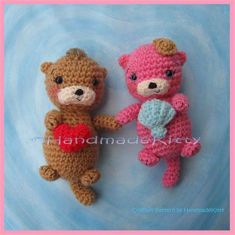 amigurumi otter pattern otter couple floating in love amigurumi crochet pattern by