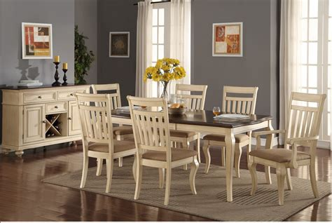 dining room sets with colored chairs marceladick com traditional cream dining set poundex f2343 hot sectionals