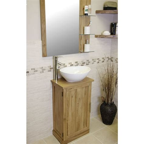 Slimline Vanity by Atla Slimline Oak Vanity Unit With Mirror Click Oak