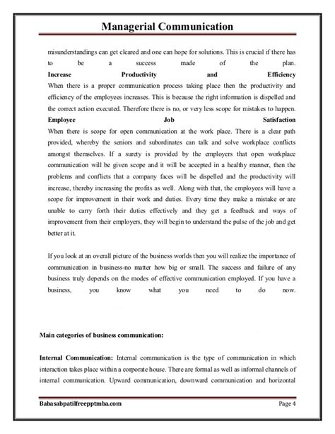 Management Communication Notes For Mba 1st Sem by Notes Managerial Communication Part 1 Mba 1st Sem By
