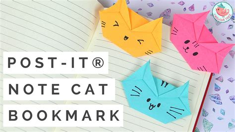 Post It Craft Paper - post it 174 note crafts post it 174 note origami cat bookmark