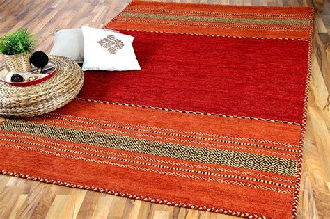 teppiche kelim natur teppich kelim navarro rot orange teppiche nepal