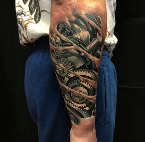 tattoo on arm pics mechanical forearm with cogs best tattoo design ideas