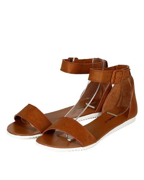 Sandal Wedges Dh196 Hitam 23 new breckelles 23 leatherette open toe ankle flat sandal ebay