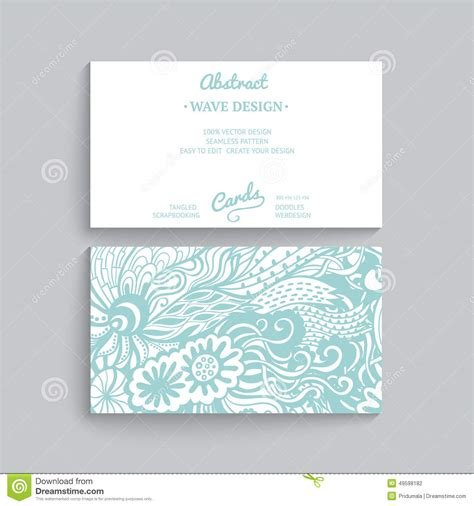 Card Decoration Templates by Vector Simple Business Card Template With Decorative