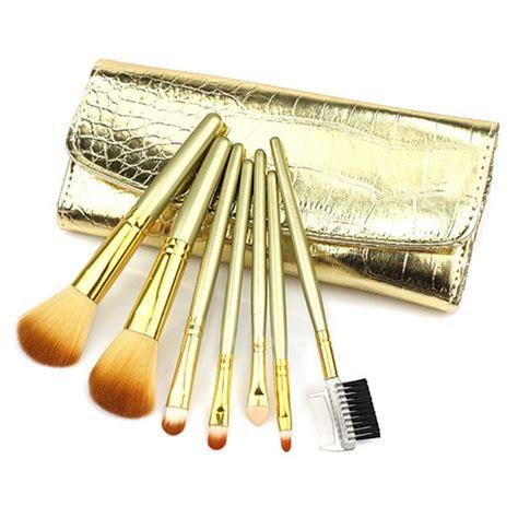 Set Kuas 4 Original Kaleng 7 Pcs Brush Makeup free shipping 7 pcs professional golden makeup brush set kit with cosmetic hzs0002 on luulla