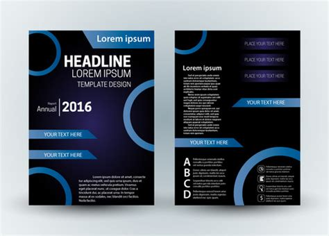 modern brochure design templates brochure template blue free vector 18 811 free