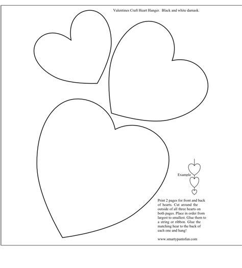 of hearts card template smarty printables valentines day valentines