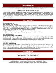 Resume Exles Physical Education Pe Instructor Resume