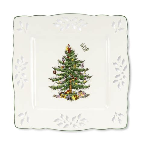 christmas tree square tray by spode
