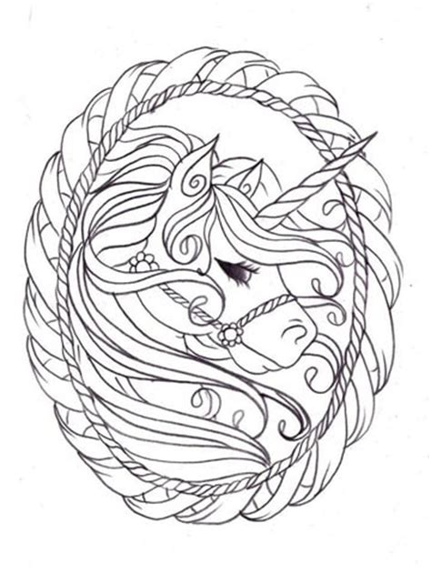 dibujos e imagenes de unicornios para colorear a lapiz