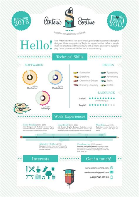 cool resumes 25 creative and simple resume exles