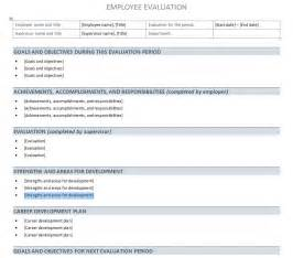 employee evaluations templates performance evaluation template performance evaluation sheet
