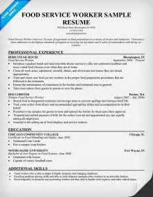 Food Worker Sle Resume by Food Service Worker Resume Resume Sles Across All Industries Food Service
