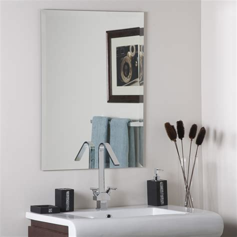 Frameless Beveled Bathroom Mirrors Decor Frameless Square Beveled Mirror Beyond Stores
