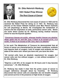 dr otto heinrich warburg 1931 nobel prize winner the root cause o