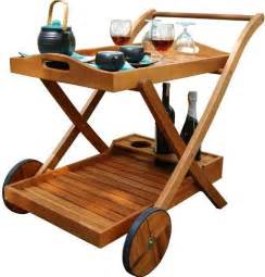 Vifah v501 hana serving cart gorgeous wood outdoor serving cart