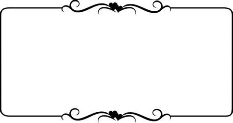 Wedding Border Line word clip wedding embellishments black border