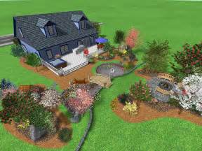 Large Backyard Landscaping Ideas Landscape Design Software Gallery Page 1