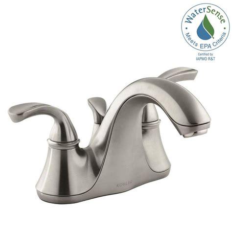 shop kohler forte vibrant brushed nickel 2 handle high arc kohler forte 4 in centerset 2 handle low arc water saving