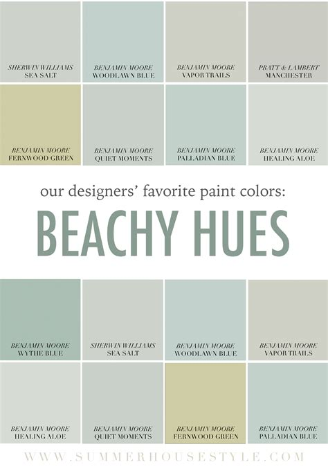 the best beachy paint colors picked by the interior designers at summerhouse www