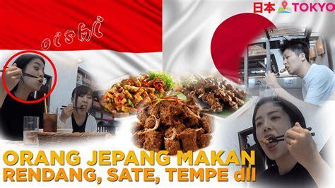 traktir  jepang makan rendang tempe sate