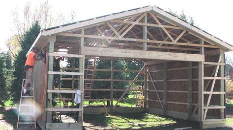 diy pole barns shedgarage construction lp smartside youtube