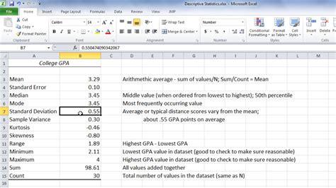 Statistics In Excel Statistics In Excel Average Median Mode And