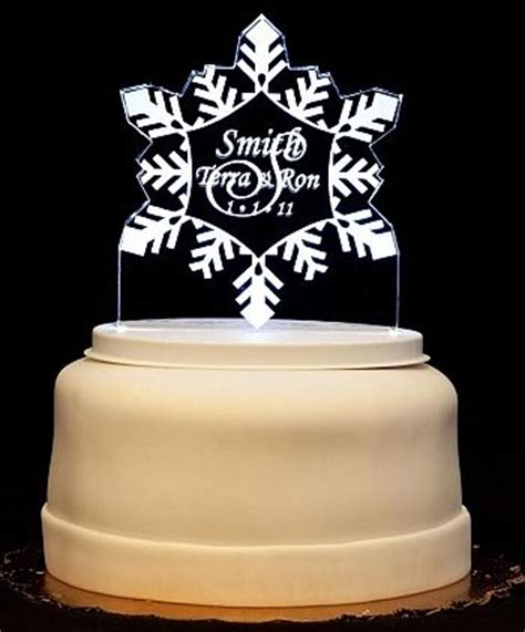 light up cake topper snowflake light up wedding cake topper wedding collectibles