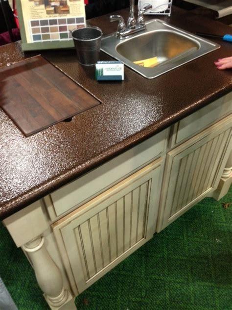 Diy Metal Countertops - spray paint copper metal to your laminate countertops