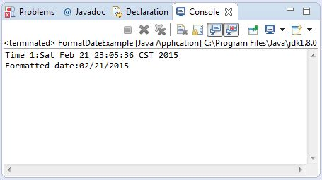 format date using java java simpledateformat format date date method exle