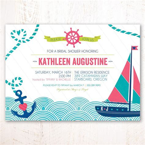 printable nautical bridal shower invitations unavailable listing on etsy