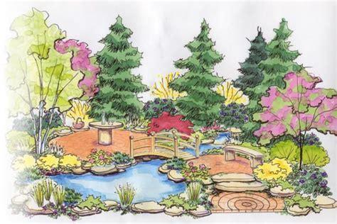 drawing of garden drawing garden