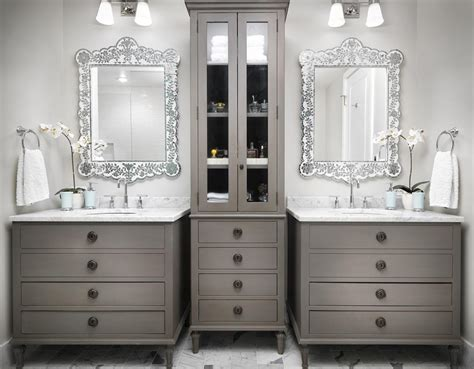 Bathroom With Two Vanities by 21 Bathroom Vanities And Storage Ideas