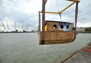 cardboard lifeboat a houseboat made entirely of recycled cardboard is setting