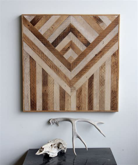 Wooden Wall Decor | geometric wood panels to decorate your walls by ariele