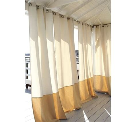 pottery barn outdoor curtains outdoor banded drapes pottery barn outdoor living