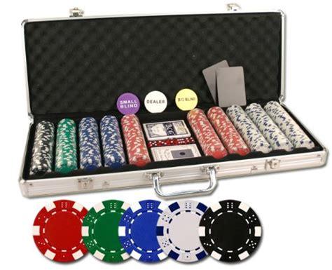 Set Cardi Pokego da vinci 500 set with chips dealer buttons