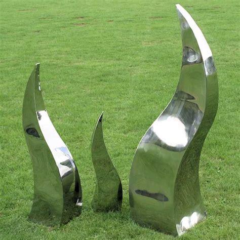lawn ornaments and garden sculptures metal garden sculptures amazing flames in stainless steel