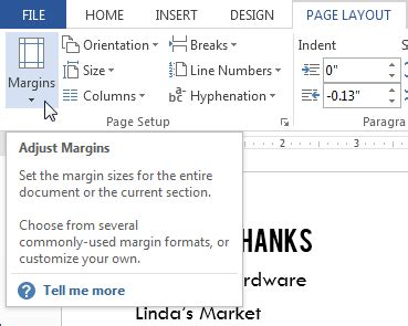 layout margin lession 9 page layout microsoft office