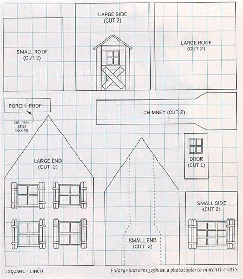 gingerbread house pattern printable gingerbread blueprints holiday ideas pinterest