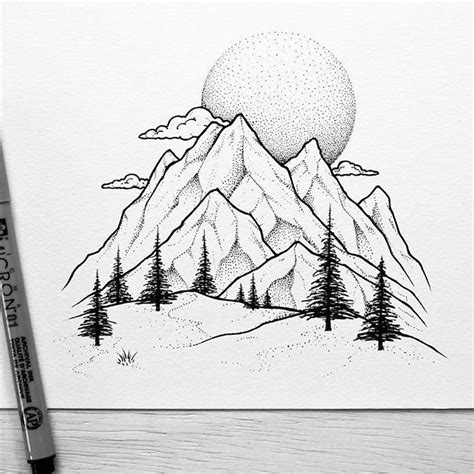 Sketches Mountains by Best 25 Mountain Drawing Ideas On Mountain