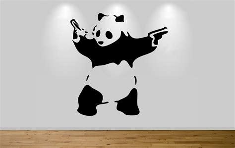 Wall Sticker Motif Panda Kode Panda banksy panda wall sticker decal wall banksy graffiti shooting panda sticker ebay