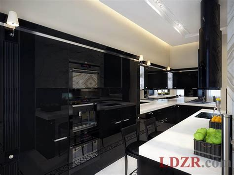 contemporary black kitchen cabinets made from wood home
