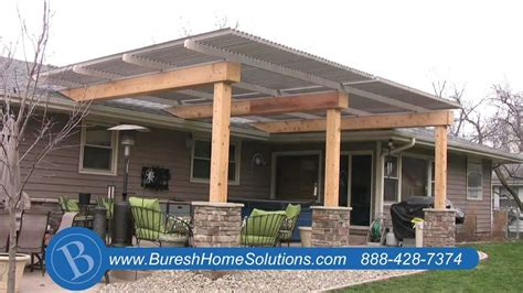 Backyard Kitchen Designs by Aluminum Patio Cover Youtube